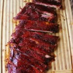 low and slow ribs sliced