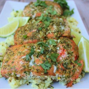 cilantro lime grilled chicken on a plate