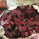 roasted beets in tin foil