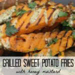 Grilled Sweet Potato Fries with Honey Mustard Dipping Sauce