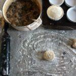 Making Steak, Mushroom, and Guinness Pot Pies