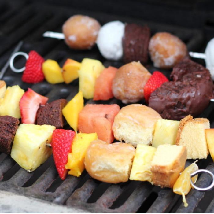 grilled dessert kabobs