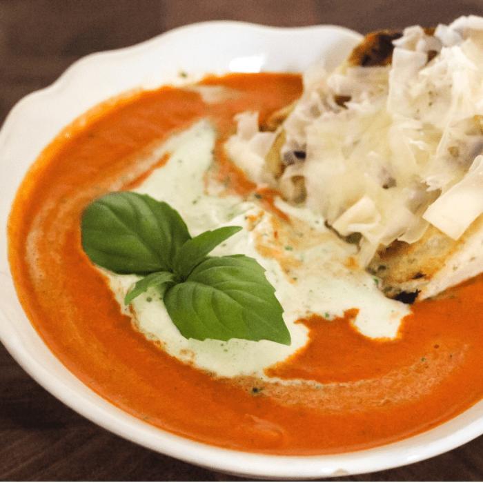 smoke roasted tomato soup