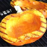 grilled pumpkin on a grill