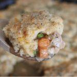 chicken pot pie with cheddar biscuit crust