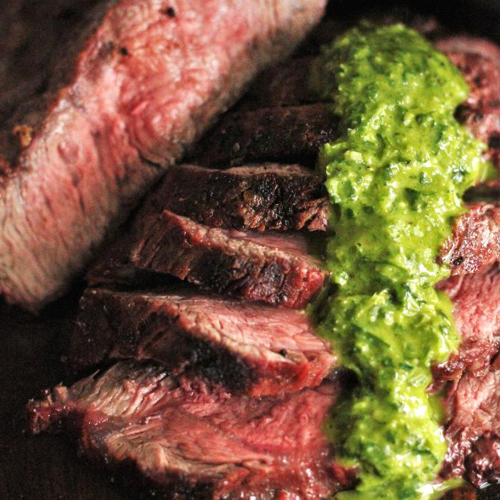 Grilled Flat Iron Steak With Chimichurri Hey Grill Hey