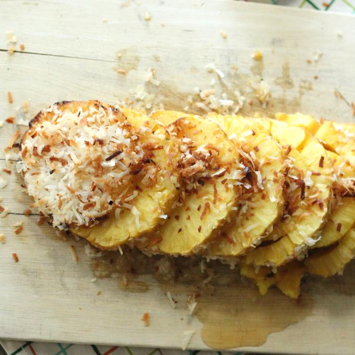 pina colada grilled pineapple