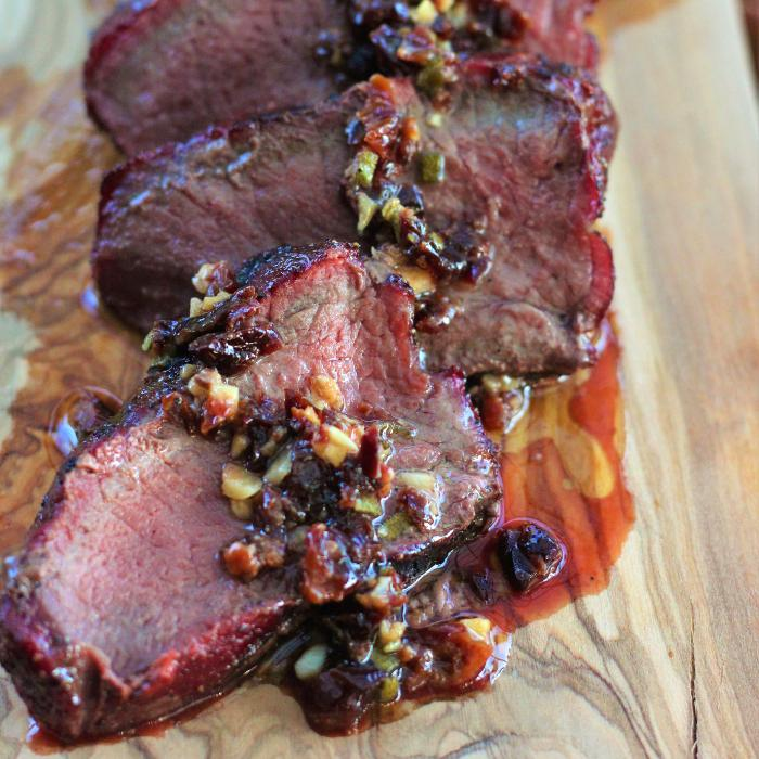 grilled venison steak
