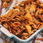 sweet and spicy smoked snack mix