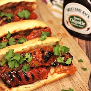 honey chipotle country style rib sandwich