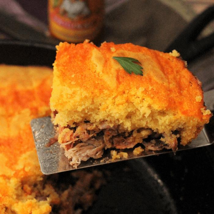 smoked pulled pork cornbread