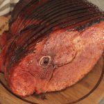 bourbon peach glazed smoked ham