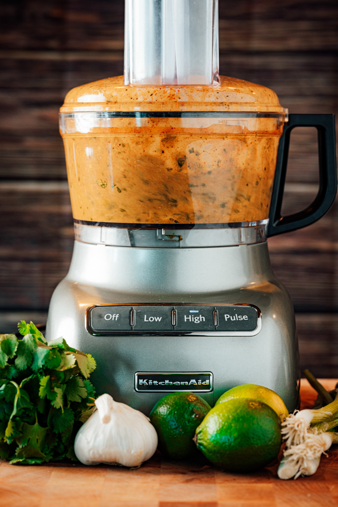 Chili Lime Chicken Marinade in a food processor.