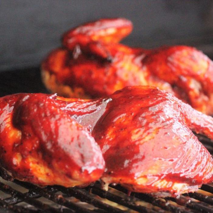 smoked chicken with kansas city style bbq sauce