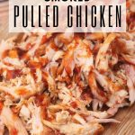 whiskey peach smoked pulled chicken