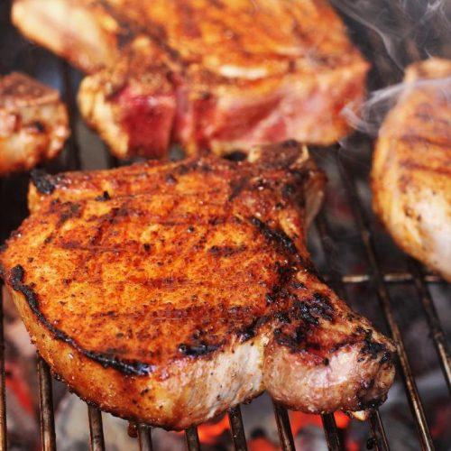 "pork chops recipe grill Simple Grilled Pork Chops with ""Secret"" Sweet Rub"