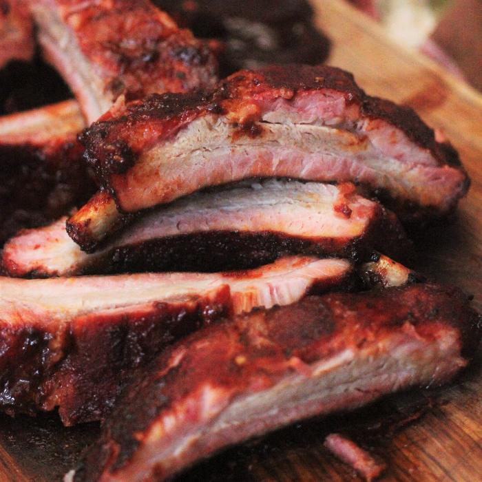 smoked dr. pepper pork ribs
