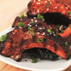 smoked asian style sticky ribs
