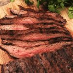 marinated and grilled flank steak