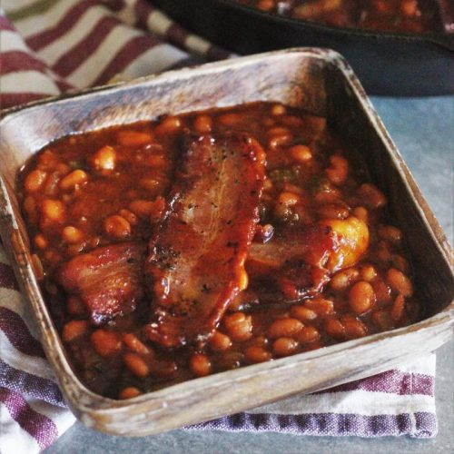 Smoked Baked Beans With Brown Sugar And Bacon Hey Grill Hey