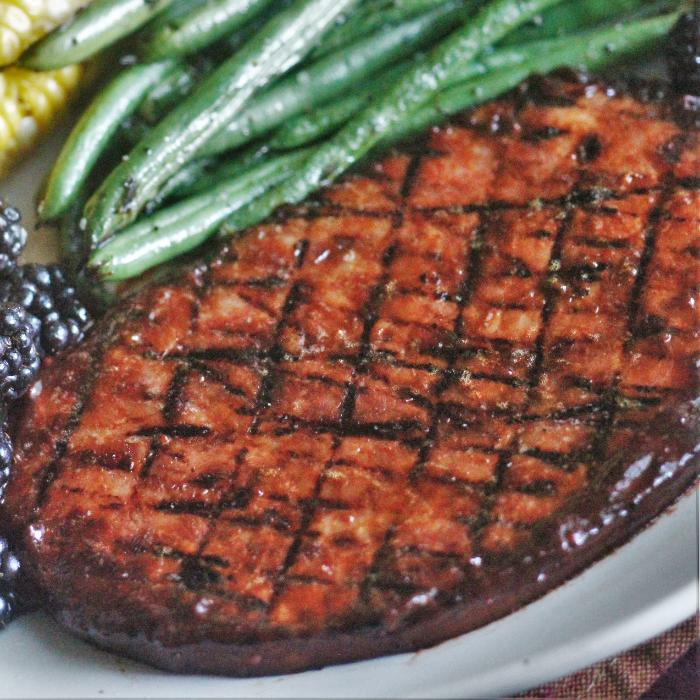 grilled ham steak