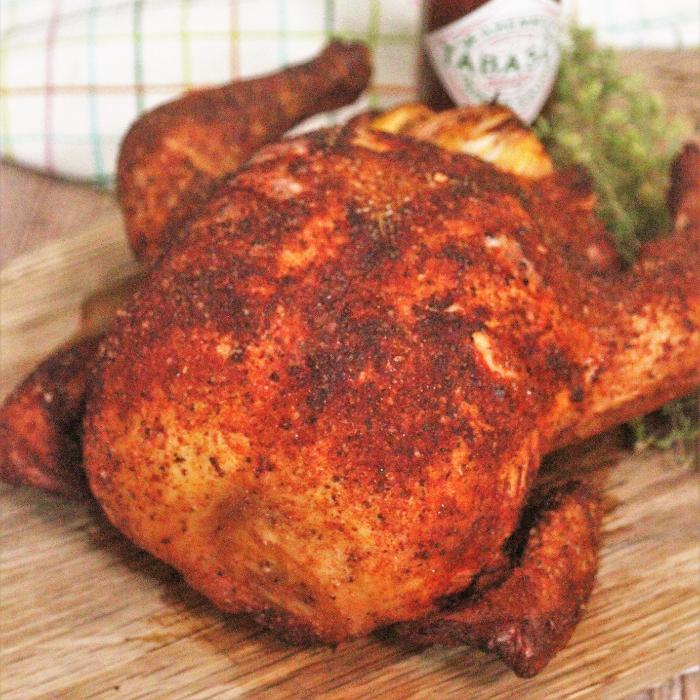 smoked whole chicken