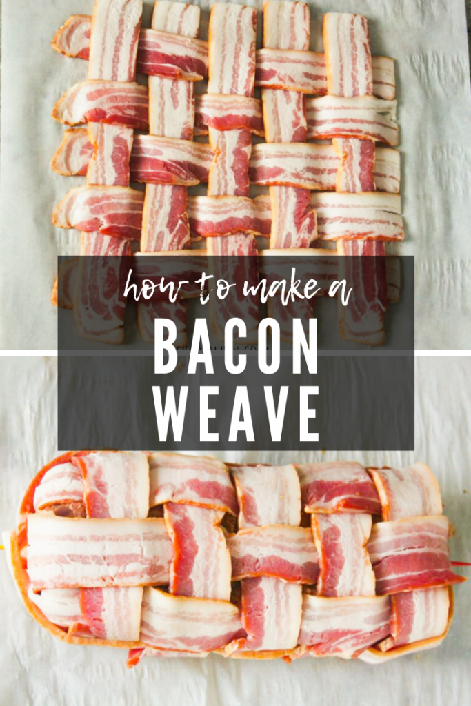 image of a finished bacon weave